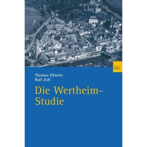 Thomas Ellwein - Die Wertheim-Studie - Preis vom 05.09.2020 04:49:05 h