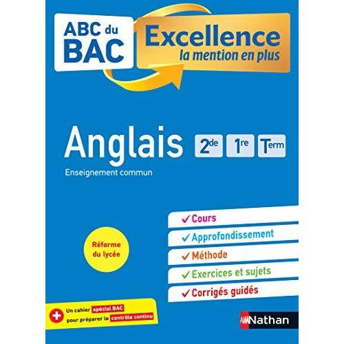 - ABC BAC Excellence Anglais 2de, 1re, Term (ABC DU BAC EXCELLENCE) - Preis vom 21.10.2020 04:49:09 h