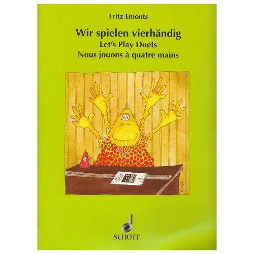 - Wir spielen vierhändig: Leichte Klavierstücke für den ersten Anfang. Klavier 4-händig. - Preis vom 20.10.2020 04:55:35 h