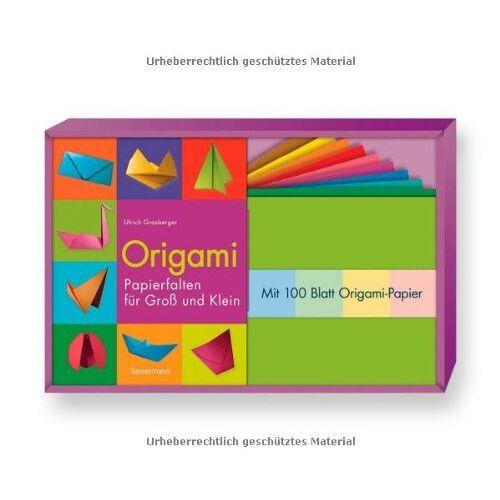 Ulrich Grasberger - Origami-Set: Papierfalten für Groß und Klein. Buch und 100 Blatt Origami-Papier - Preis vom 14.04.2021 04:53:30 h
