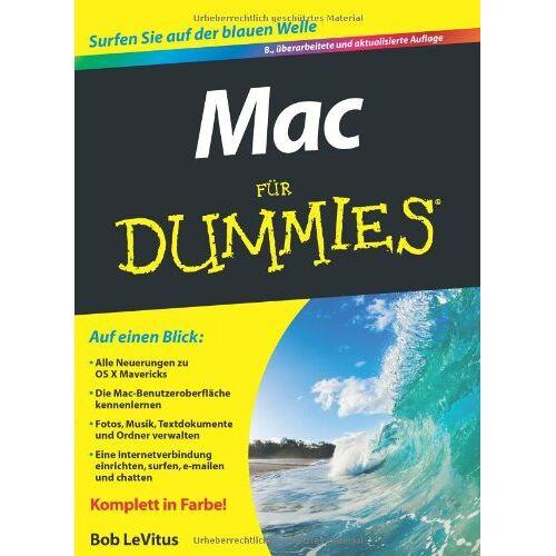 Bob LeVitus - Mac für Dummies (Fur Dummies) - Preis vom 06.12.2019 06:03:57 h