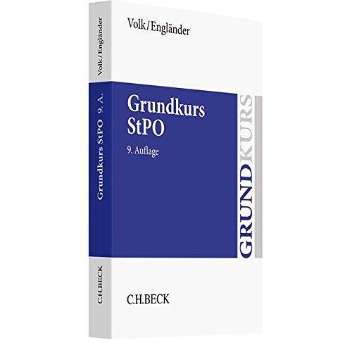 Klaus Volk - Grundkurs StPO (Grundkurse) - Preis vom 14.05.2021 04:51:20 h