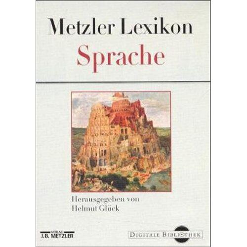 - Metzler Lexikon Sprache. CD- ROM - Preis vom 20.10.2020 04:55:35 h