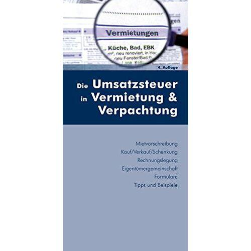 Walter Stingl - Die Umsatzsteuer in Vermietung & Verpachtung - Preis vom 15.04.2021 04:51:42 h