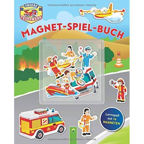 - Unserer Feuerwehr Magnet-Spiel-Buch: Lernspaß mit 16 Magneten - Preis vom 26.05.2020 05:00:54 h