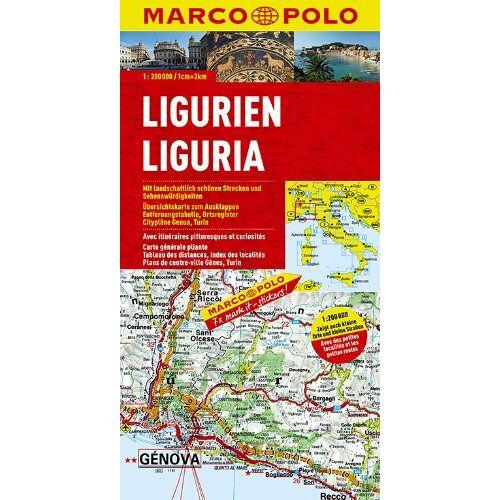 Marco Polo - MARCO POLO Karte Ligurien 1:200.000 (Marco Polo Maps) - Preis vom 27.02.2021 06:04:24 h