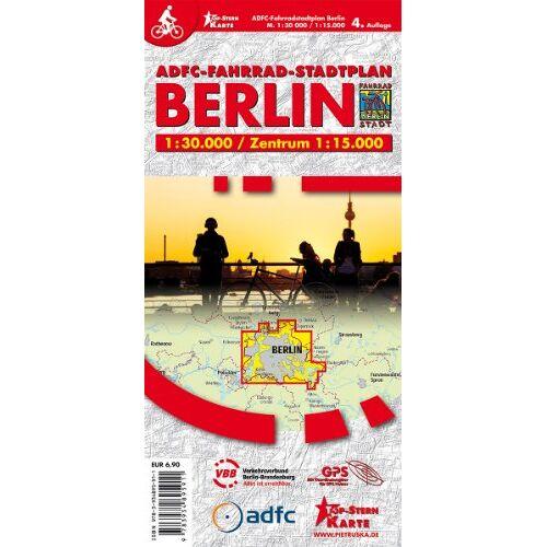 - ADFC Fahrrad-Stadtplan Berlin: Fahrradstadtplan, 4. Auflg. M 1:30.000 Zentrum 1: 15.000 - Preis vom 24.02.2021 06:00:20 h