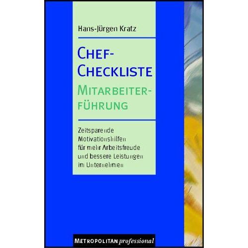- Chef-Checkliste Mitarbeiterführung - Preis vom 16.05.2021 04:43:40 h