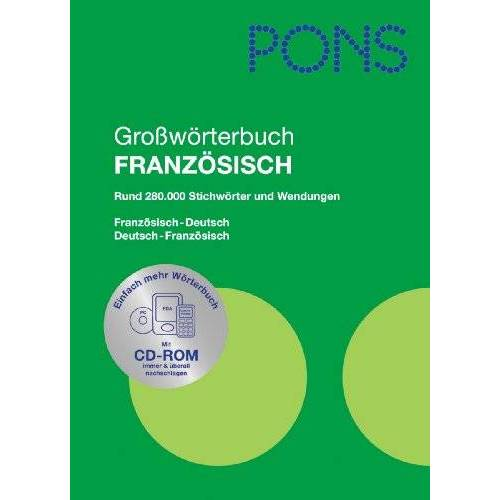 - PONS Großwörterbuch Französisch. Französisch-Deutsch /Deutsch-Französisch - Preis vom 28.03.2020 05:56:53 h