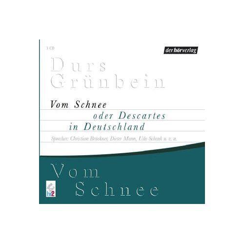 Durs Grünbein - Vom Schnee. 3 CDs - Preis vom 02.12.2020 06:00:01 h