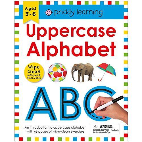 Roger Priddy - WIPE CLEAN WORKBK UPPERCASE AL (Priddy Learning) - Preis vom 25.01.2021 05:57:21 h