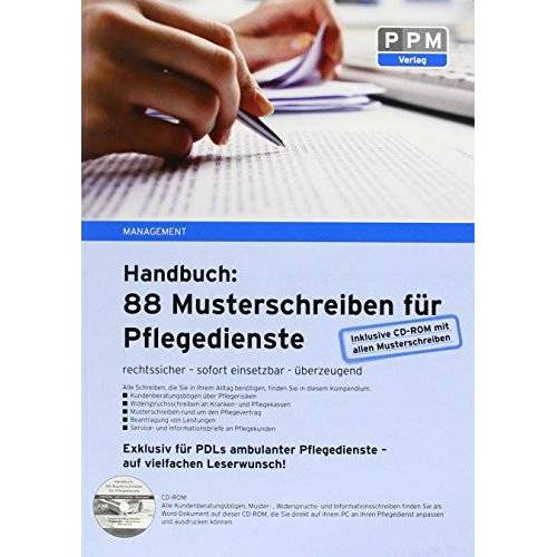 Annett Urban - 88 Musterschreiben für Pflegedienste - rechtssicher - sofort einsetzbar - überzeugend: Exklusiv für PDLs ambulanter Pflegedienste - Preis vom 07.05.2021 04:52:30 h