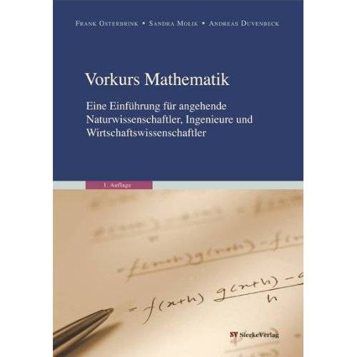 Andreas Duvenbeck - Duvenbeck, A: Vorkurs Mathematik - Preis vom 05.09.2020 04:49:05 h