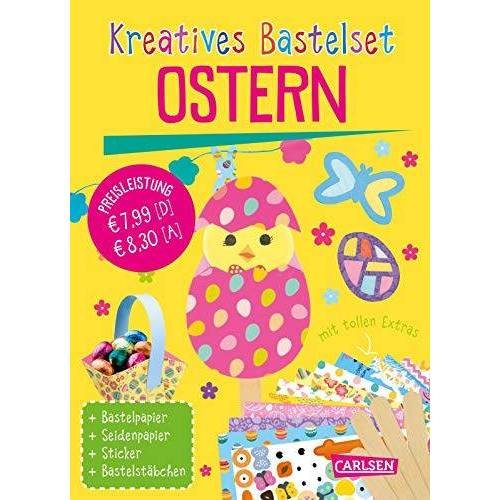 - Kreatives Bastelset: Ostern: Set mit Bastelpapier, Seidenpapier, Stickern und Bastelstäbchen - Preis vom 16.05.2021 04:43:40 h