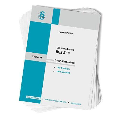 Hemmer, Karl E. - Karteikarte BGB AT II (Karteikarten - Zivilrecht) - Preis vom 20.10.2020 04:55:35 h