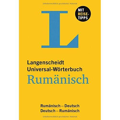 Redaktion Langenscheidt - Langenscheidt Universal-Wörterbuch Rumänisch: Rumänisch-Deutsch/Deutsch-Rumänisch (Langenscheidt Universal-Wörterbücher) - Preis vom 11.05.2021 04:49:30 h