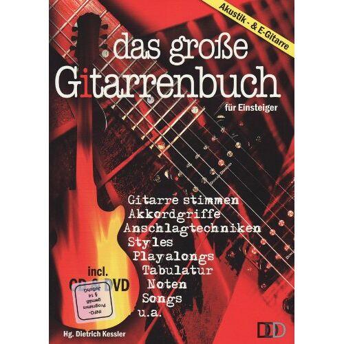 Dietrich Kessler - Das große Gitarrenbuch für Einsteiger, m. Audio-CD u. DVD - Preis vom 11.04.2021 04:47:53 h