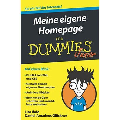 Lisa Ihde - Meine eigene Homepage für Dummies Junior - Preis vom 21.01.2021 06:07:38 h