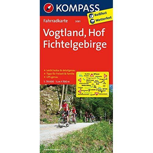 KOMPASS-Karten GmbH - Vogtland - Hof - Fichtelgebirge: Fahrradkarte. GPS-genau. 1:70000 (KOMPASS-Fahrradkarten Deutschland, Band 3081) - Preis vom 25.05.2020 05:02:06 h