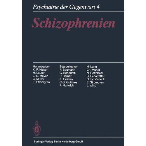 P. Baumann - Schizophrenien - Preis vom 28.10.2020 05:53:24 h