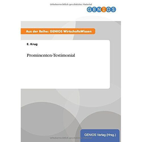 E. Krug - Prominenten-Testimonial - Preis vom 28.02.2021 06:03:40 h