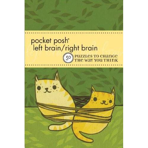 The Puzzle Society - Pocket Posh Left Brain / Right Brain: 50 Puzzles to Change the Way you Think (Pocket Posh Puzzle) - Preis vom 28.02.2021 06:03:40 h