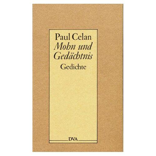 Paul Celan - Mohn und Gedächtnis - Preis vom 06.04.2021 04:49:59 h