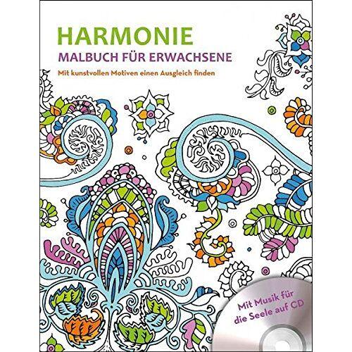 Ullmannmedien - Malbuch für Erwachsene mit CD - Harmonie - Preis vom 06.04.2020 04:59:29 h