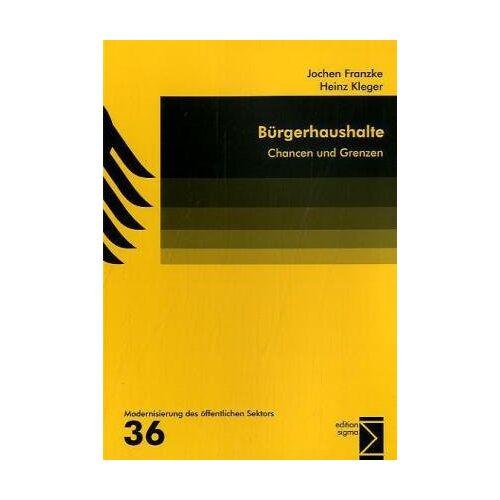 Jochen Franzke - Bürgerhaushalte: Chancen und Grenzen - Preis vom 06.09.2020 04:54:28 h
