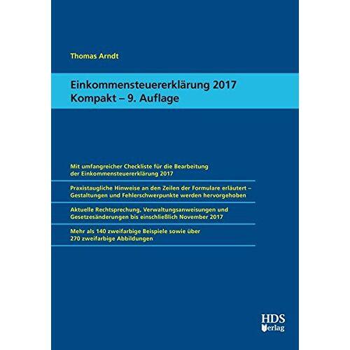 Thomas Arndt - Einkommensteuererklärung 2017 Kompakt - Preis vom 05.09.2020 04:49:05 h
