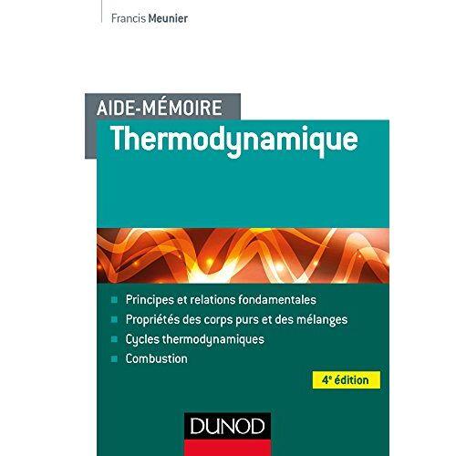 - Thermodynamique - Preis vom 12.05.2021 04:50:50 h