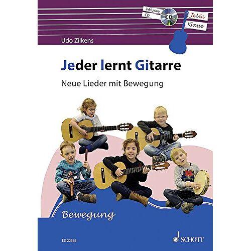 Udo Zilkens - Jeder lernt Gitarre - Neue Lieder mit Bewegung: JelGi-Liederbuch für allgemein bildende Schulen. Gitarre. Lehrbuch mit CD. - Preis vom 28.02.2021 06:03:40 h