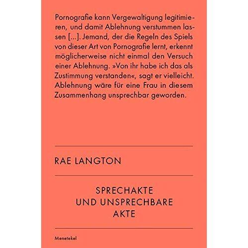 Rae Langton - Sprechakte und unsprechbare Akte - Preis vom 01.03.2021 06:00:22 h