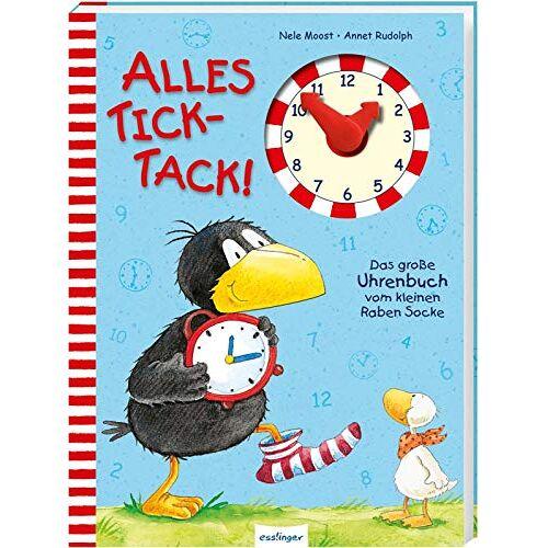 Nele Moost - Der kleine Rabe Socke: Alles Tick-Tack! Das große Uhrenbuch vom kleinen Raben Socke - Preis vom 23.02.2021 06:05:19 h