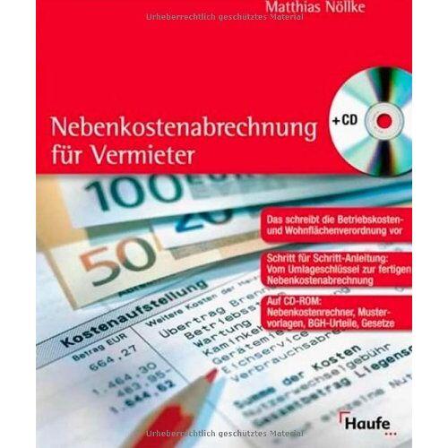 Matthias Nöllke - Nebenkostenabrechnung für Vermieter - Preis vom 07.05.2021 04:52:30 h