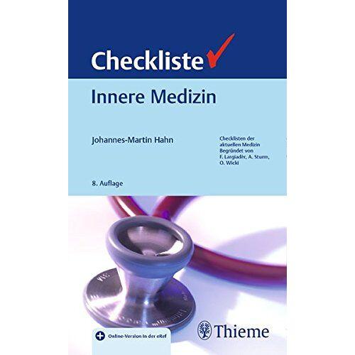 Johannes-Martin Hahn - Checkliste Innere Medizin (Checklisten Medizin) - Preis vom 15.05.2021 04:43:31 h