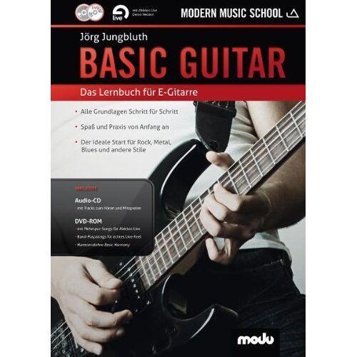 Jörg Jungbluth - Basic Guitar: Das neue Lernbuch für E-Gitarre. Gitarre. Lehrbuch mt CD + DVD. - Preis vom 16.04.2021 04:54:32 h