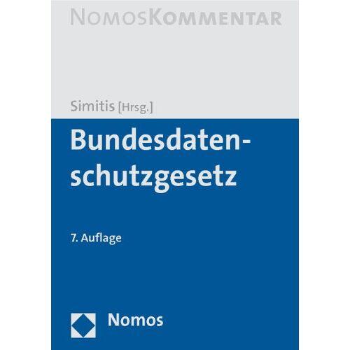 Spiros Simitis - Bundesdatenschutzgesetz - Preis vom 12.05.2021 04:50:50 h