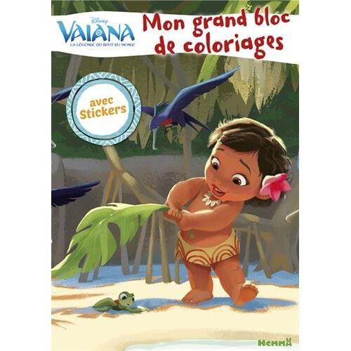 - Mon grand bloc de coloriages avec stickers Vaiana - Preis vom 05.09.2020 04:49:05 h