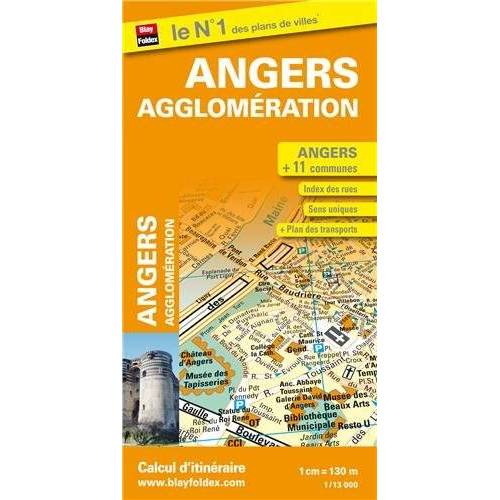 Blay-Foldex - Plan d'Angers et de son agglomération - Preis vom 25.02.2021 06:08:03 h