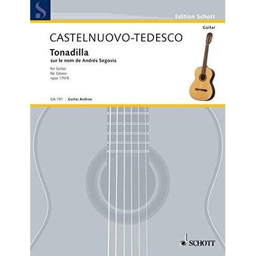 Andres Segovia - Tonadilla auf den Namen von Andrés Segovia: op. 170/5. Gitarre. (Edition Schott) - Preis vom 14.04.2021 04:53:30 h