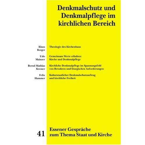 Heiner Marré - Essener Gespräche zum Thema Staat und Kirche / Denkmalschutz und Denkmalpflege im kirchlichen Bereich - Preis vom 20.10.2020 04:55:35 h