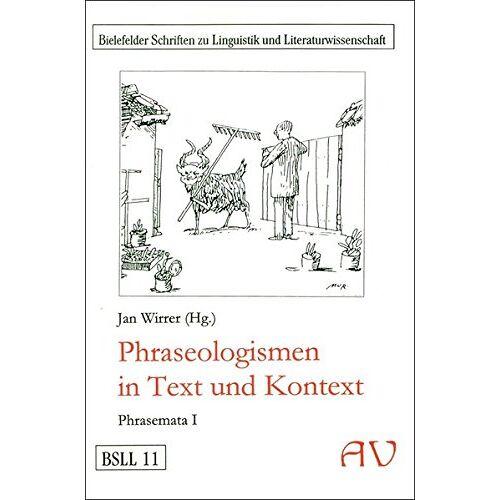 Jan Wirrer - Phraseologismen (Phrasemata) - Preis vom 24.06.2020 04:58:28 h