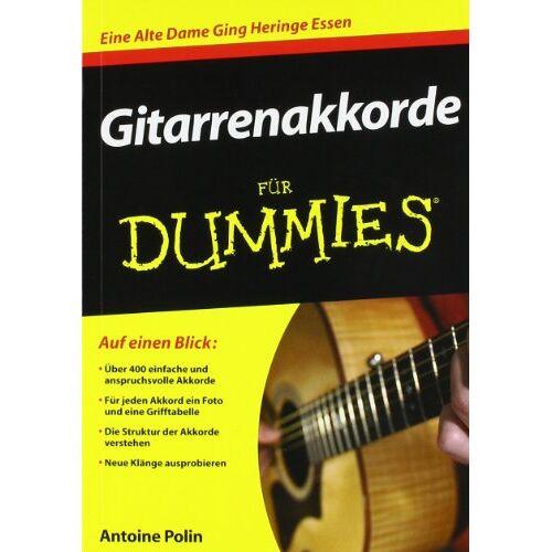 Antoine Polin - Gitarrenakkorde für Dummies (Fur Dummies) - Preis vom 15.05.2021 04:43:31 h
