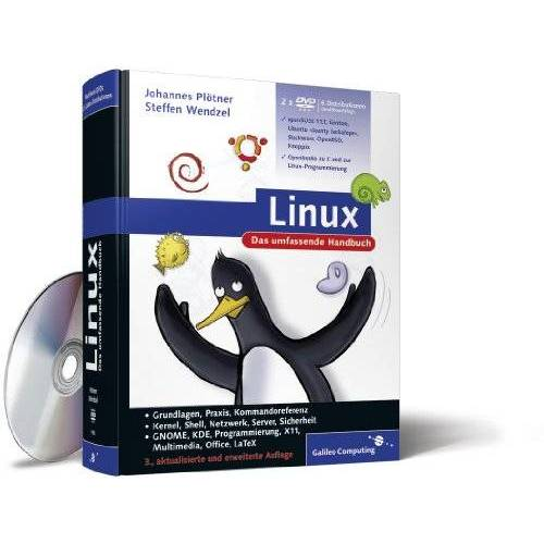 Johannes Plötner - Linux: Das umfassende Handbuch, mit 2 DVD-ROMs - Preis vom 15.04.2021 04:51:42 h