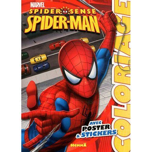 Hemma - Coloriage SpiderSense Spiderman : Avec poster & stickers - Preis vom 05.09.2020 04:49:05 h