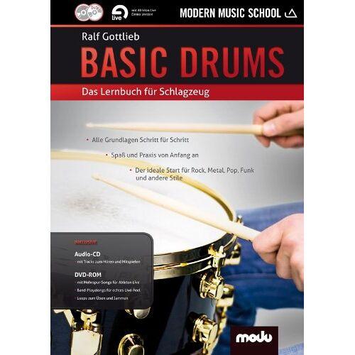 Ralf Gottlieb - Basic Drums: Das Lernbuch für Schlagzeug. Schlagzeug. Lehrbuch mt CD + DVD. - Preis vom 27.02.2021 06:04:24 h