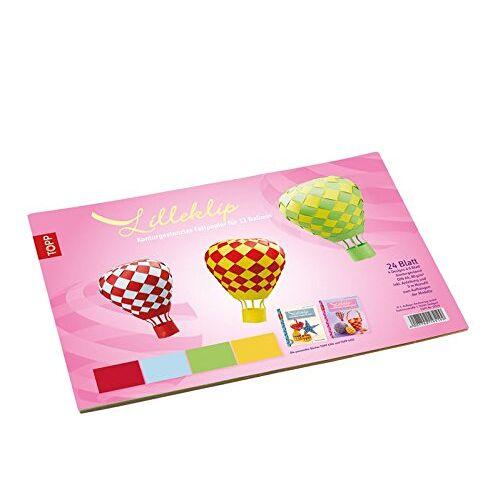 Lene Schepper - Lilleklip Konturgestanztes Faltpapier für 12 Ballons: 24 Blatt, 4 Farben, DIN A4, 80 g/m², konturgestanzt, 5 m Monofil 0,3 mm, inkl. Anleitung - Preis vom 26.01.2020 05:58:29 h