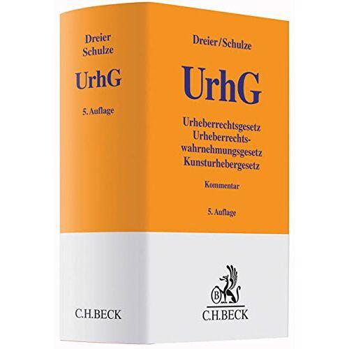 Thomas Dreier - Urheberrechtsgesetz: Urheberrechtswahrnehmungsgesetz, Kunsturhebergesetz - Preis vom 13.04.2021 04:49:48 h