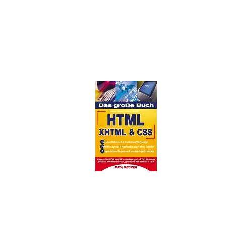 Matthias Matthai - Das Große Buch HTML. XHTML & CSS - Preis vom 11.05.2021 04:49:30 h